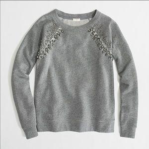 J.crew embellished crewneck sweatshirt xl